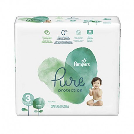 Pack 22 Couches Pampers Pure Protection taille 3 sur Promo Couches
