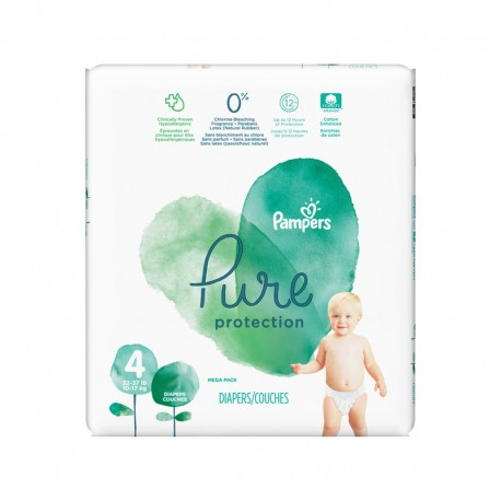 Pack 19 Couches Pampers Pure Protection taille 4 sur Promo Couches