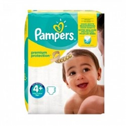 Pack 50 Couches Pampers New Baby Premium Protection taille 4+