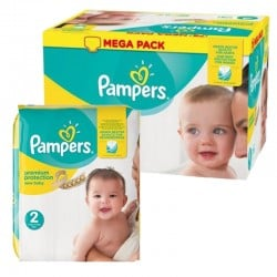124 Couches Pampers New Baby Premium Protection taille 2