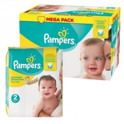 Mega pack 124 Couches Pampers New Baby Premium Protection taille 2 sur Promo Couches