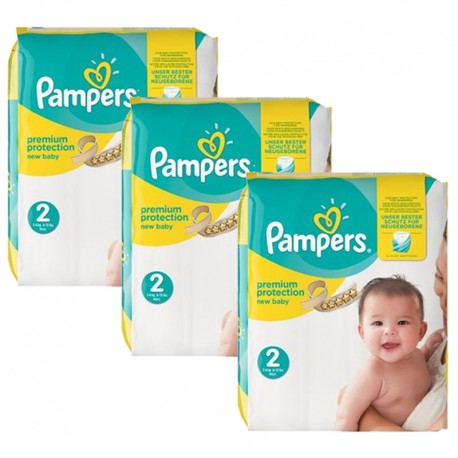Maxi giga pack 341 Couches Pampers New Baby Premium Protection taille 2 sur Promo Couches