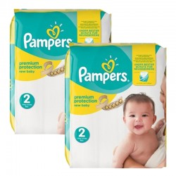 434 Couches Pampers New Baby Premium Protection taille 2 sur Promo Couches