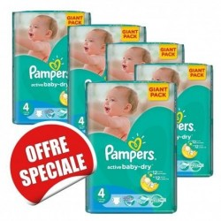 Giga pack 238 Couches Pampers Active Baby Dry taille 4