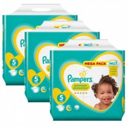 Mega pack 150 Couches Pampers New Baby Premium Protection taille 5 sur Promo Couches