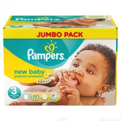 Giga pack 280 Couches Pampers New Baby Premium Protection taille 3 sur Promo Couches