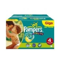 Mega pack 136 Couches Pampers Baby Dry taille 4 sur Promo Couches