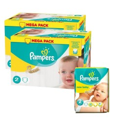 160 Couches Pampers New Baby Premium Protection taille 2 sur Promo Couches