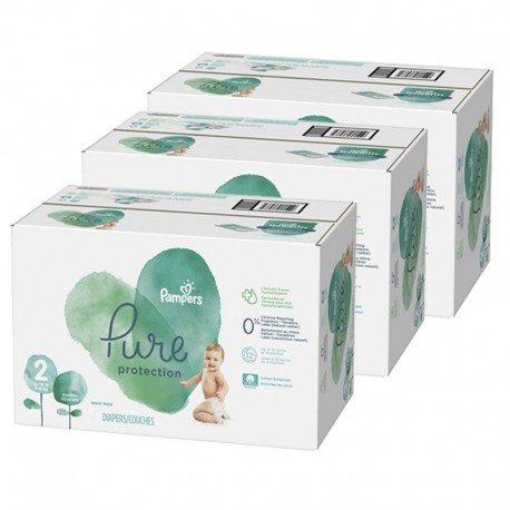 Giga pack 297 Couches Pampers Pure Protection taille 2 sur Promo Couches