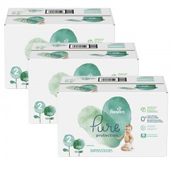 Maxi mega pack 432 Couches Pampers Pure Protection taille 2