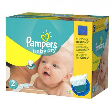 138 Couches Pampers Baby Dry taille 2 sur Promo Couches