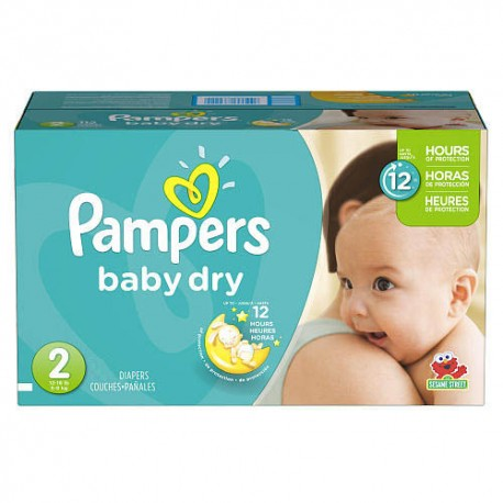 276 Couches Pampers Baby Dry taille 2 sur Promo Couches