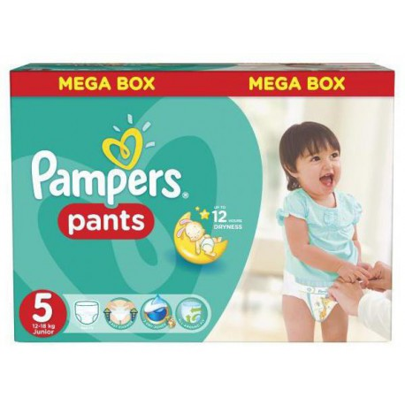 Pack 44 Couches Pampers Baby Dry Pants taille 5 sur Promo Couches