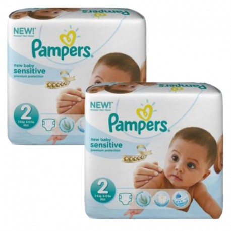 Giga pack 240 Couches Pampers New Baby Sensitive taille 2 sur Promo Couches