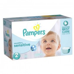 300 300 Couches Pampers New Baby Sensitive taille 2 sur Promo Couches