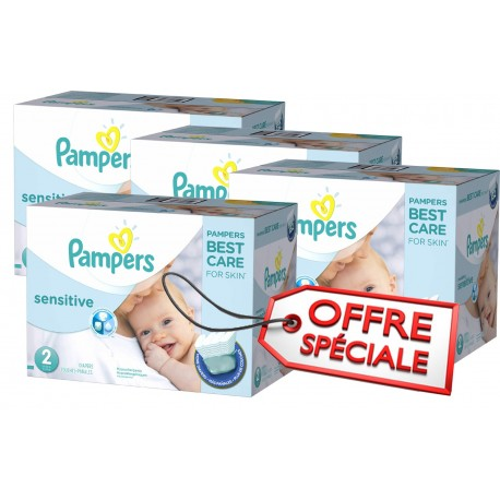 420 420 Couches Pampers New Baby Sensitive taille 2 sur Promo Couches