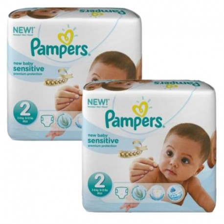 Maxi mega pack 480 Couches Pampers New Baby Sensitive taille 2 sur Promo Couches