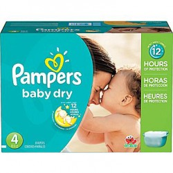 Giga pack 287 Couches Pampers Baby Dry taille 4+