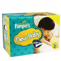 Pack 62 Couches Pampers New Baby Premium Protection taille 2