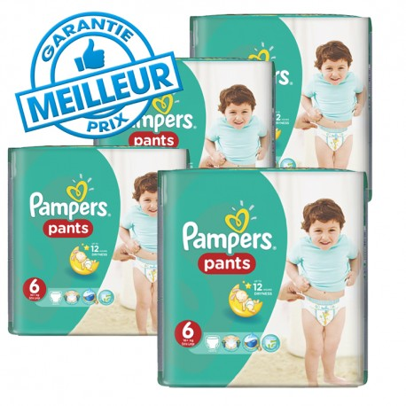Mega pack 116 Couches Pampers Baby Dry Pants taille 6 sur Promo Couches