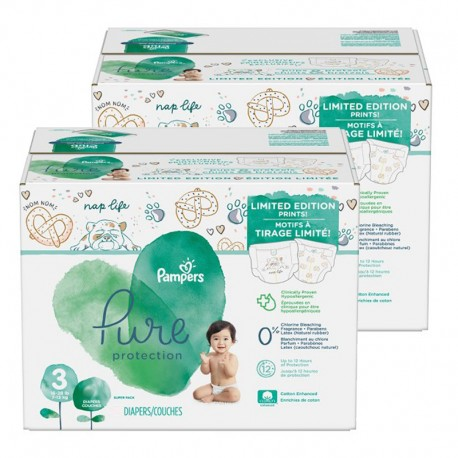 Pack 88 Couches Pampers Pure Protection taille 3 sur Promo Couches