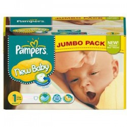 Giga pack 216 Couches Pampers New Baby Premium Protection taille 1 sur Promo Couches