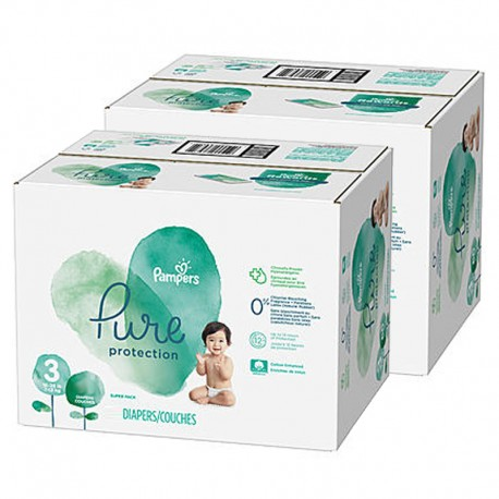 Mega pack 154 Couches Pampers Pure Protection taille 3 sur Promo Couches