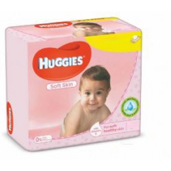 Pack jumeaux 784 Lingettes Bébés Huggies Soft Skin