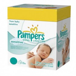 Giga pack 280 Lingettes Bébés Pampers New Baby Sensitive sur Promo Couches