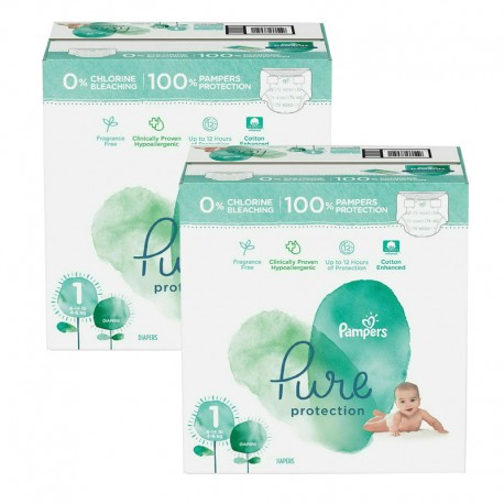 Mega pack 105 Couches Pampers Pure Protection taille 1 sur Promo Couches
