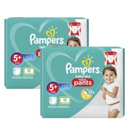 Mega pack 102 Couches Pampers Baby Dry Pants taille 5+ sur Promo Couches