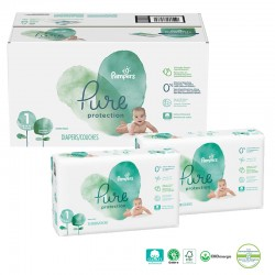 Giga pack 210 Couches Pampers Pure Protection taille 1 sur Promo Couches