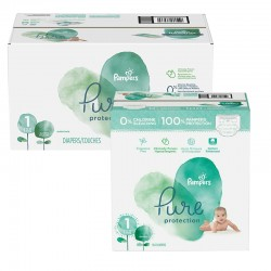 Giga pack 245 Couches Pampers Pure Protection taille 1 sur Promo Couches