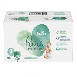 Pack 54 Couches Pampers Pure Protection taille 2