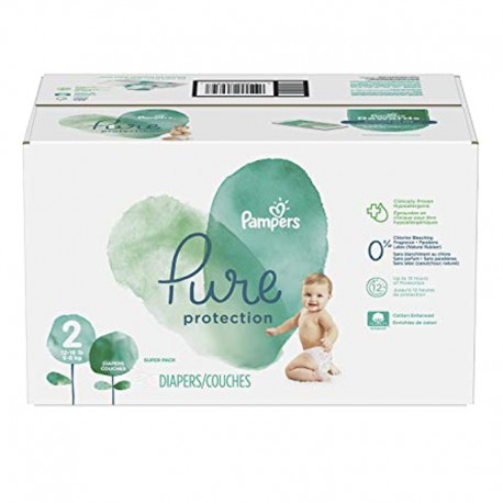 Pack 54 Couches Pampers Pure Protection taille 2 sur Promo Couches