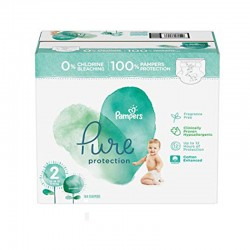 Pack 81 Couches Pampers Pure Protection taille 2