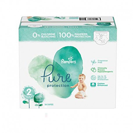 Pack 81 Couches Pampers Pure Protection taille 2 sur Promo Couches