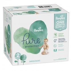 Mega pack 108 Couches Pampers Pure Protection taille 2 sur Promo Couches