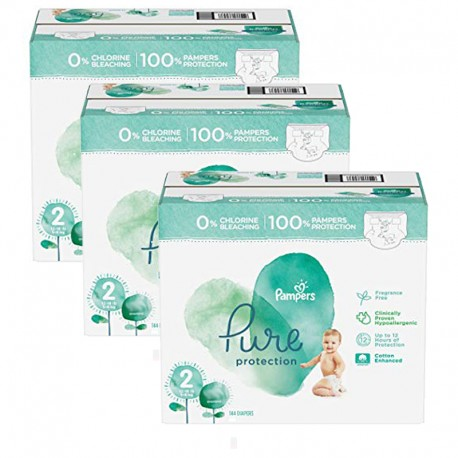 Mega pack 135 Couches Pampers Pure Protection taille 2 sur Promo Couches