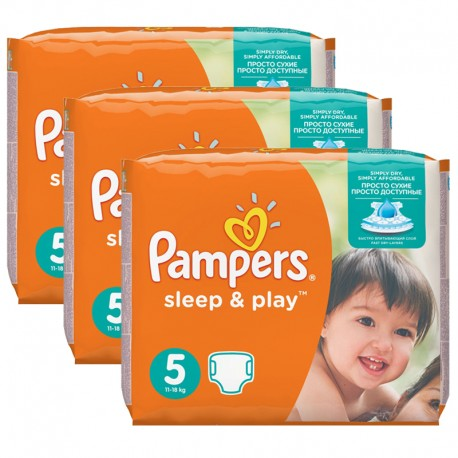 Maxi mega pack 406 Couches Pampers Sleep & Play taille 6 sur Promo Couches