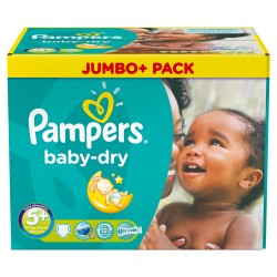 Maxi giga pack 336 Couches Pampers Baby Dry taille 5+ sur Promo Couches