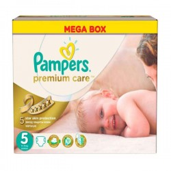 Giga pack 210 Couches Pampers Premium Care taille 5 sur Promo Couches