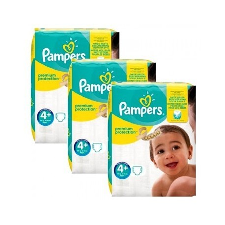 Mega pack 105 Couches Pampers New Baby Premium Protection taille 4+ sur Promo Couches