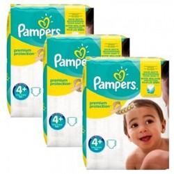 Mega pack 147 Couches Pampers New Baby Premium Protection taille 4+