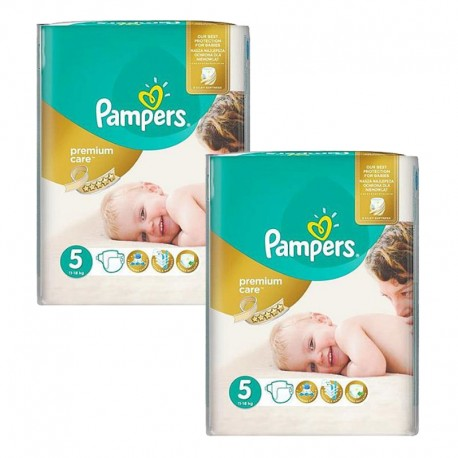 Maxi giga pack 300 Couches Pampers Premium Care taille 5 sur Promo Couches