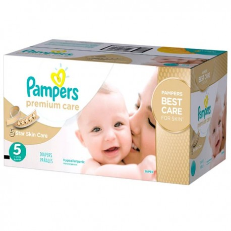 Maxi giga pack 390 Couches Pampers Premium Care taille 5 sur Promo Couches
