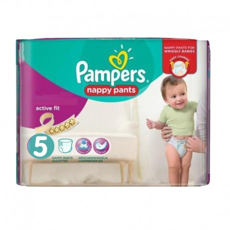 Pack 17 Couches Pampers Active Fit Pants taille 5 sur Promo Couches