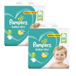 Pack 42 Couches Pampers Baby Dry taille 7 sur Promo Couches