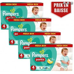 Giga pack 200 Couches Pampers Baby Dry Pants taille 4