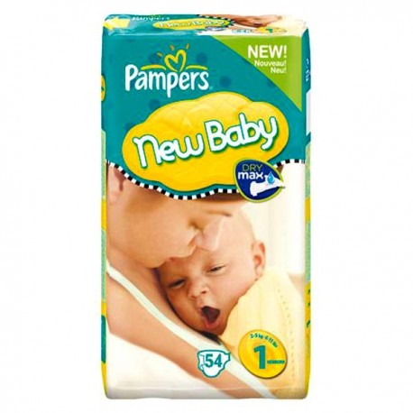 Pack 56 Couches Pampers New Baby Premium Protection taille 1 sur Promo Couches